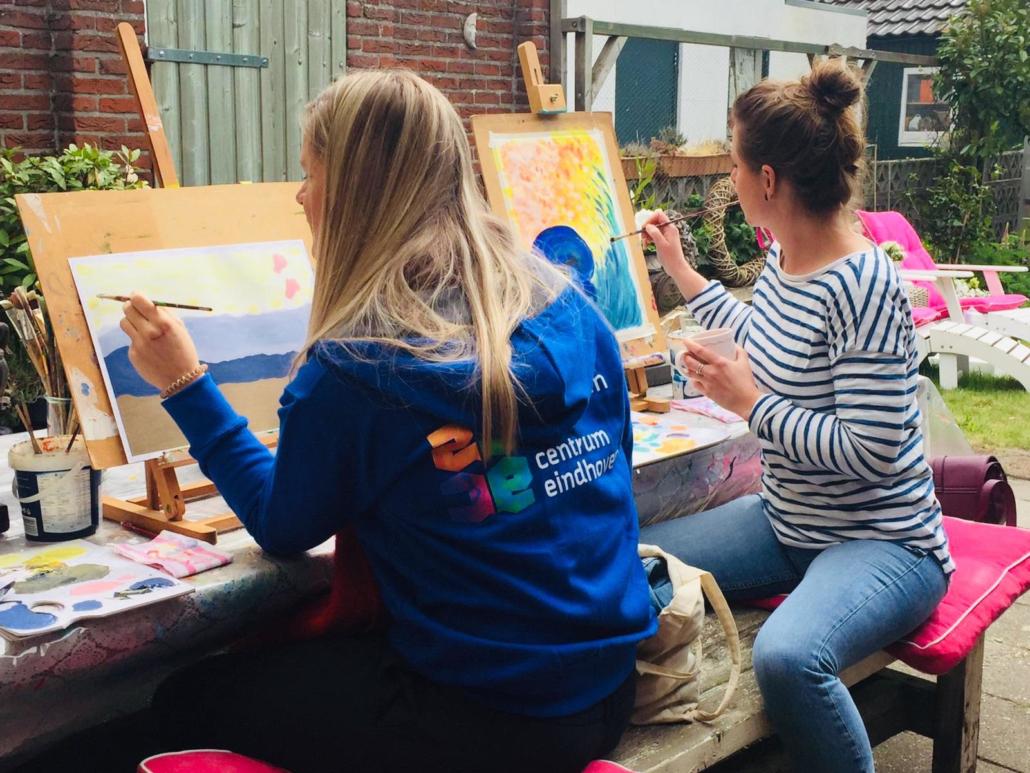 Intuiïtief schilderen in Leednde