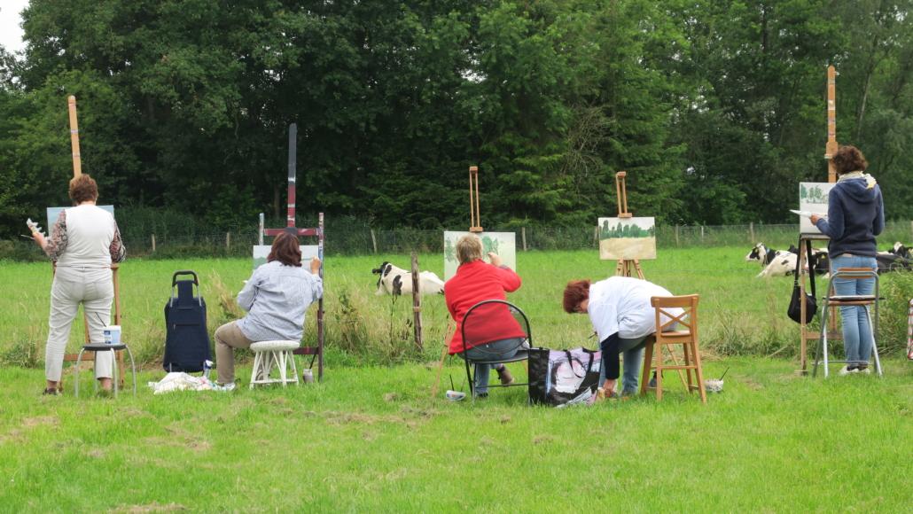 Teambuilding door schilderen in Leende