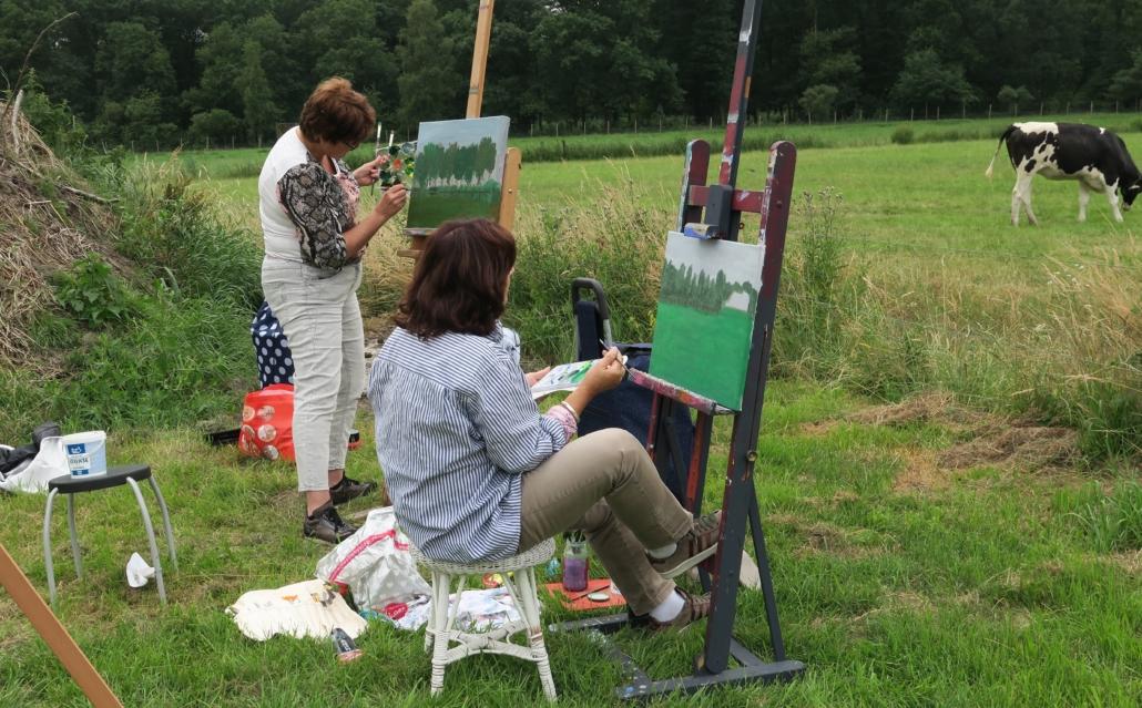 Bedrijfs schilderworkshop in Leende