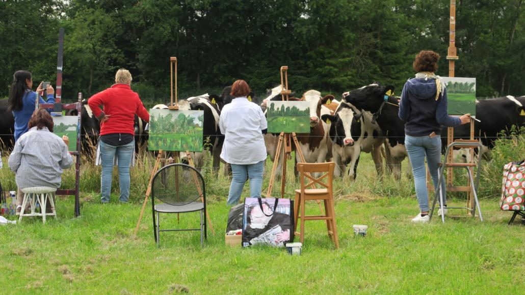 Bedrijfs schilderworkshop