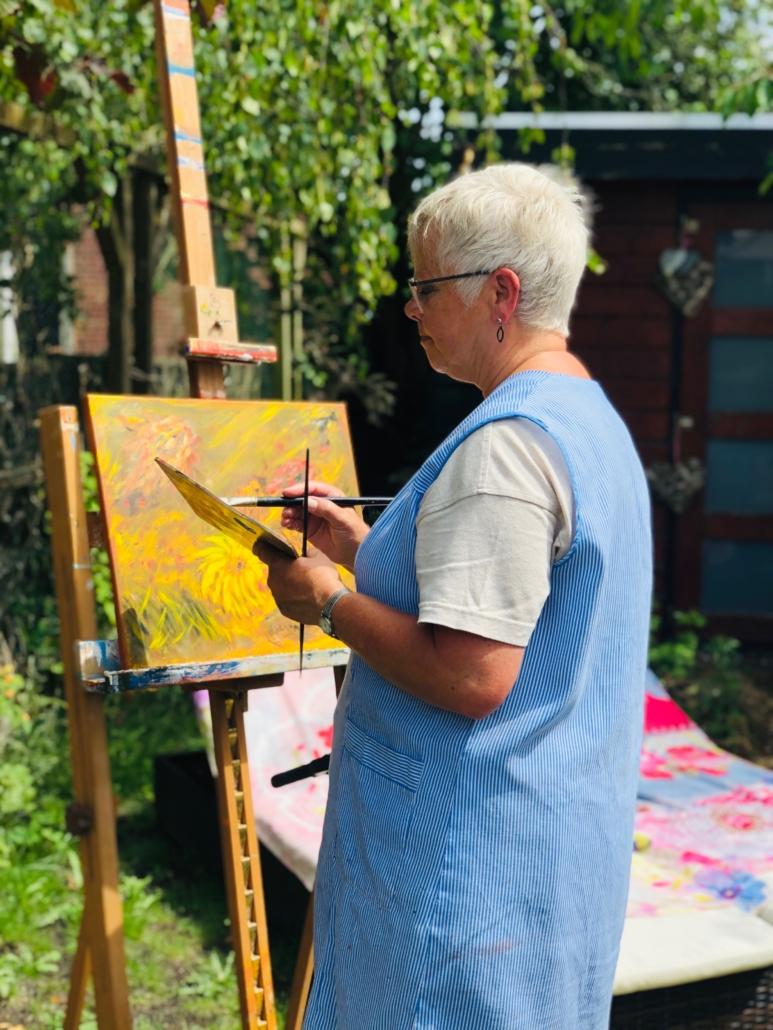 Intuïtief schilderen in Leende