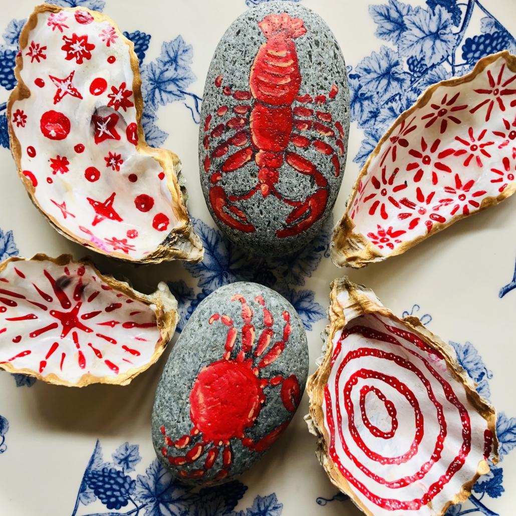 Happy stones en oesterschelpen